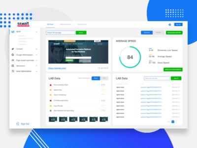 Page speed analytics dashboard