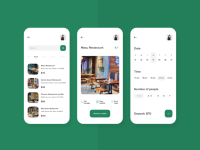 Book a table Reservation App Concept