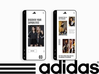 Adidas promo blackPink design concept