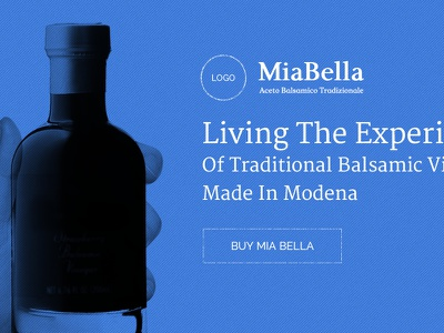 MiaBella - Home - Blueprint Wireframe adobe-fireworks blueprint wireframe blue scroll typography