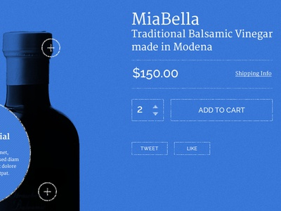 MiaBella - Landing Page - Blueprint Wireframe landing page blueprint wireframe vinegar blue ecommerce buy