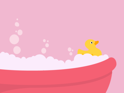 Happy Otherdays Illustrations illustration bath rubber duck pink holidays holiday