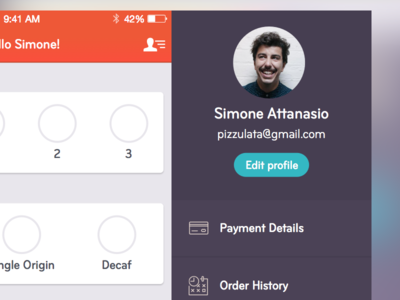 Work in progress - Skip redesign app design app pizzulata purple orange skip