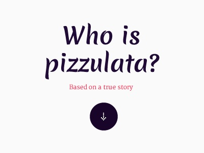 Teaser pizzulata teaser typography violet dark light pink ui ux arrow circle