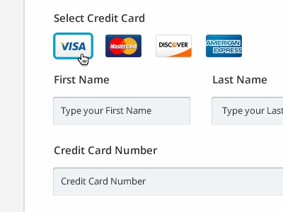 Payment Step payment pay step visa mastercard american express discover credit card clean funnel end