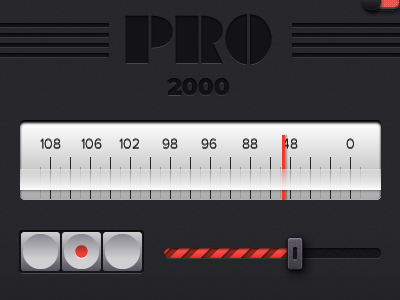 Pro 2000 slider button switch red numbers wood dark pixel adobe fireworks