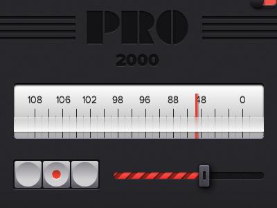 Pro 2000 slider button switch red numbers wood dark pixel adobe fireworks