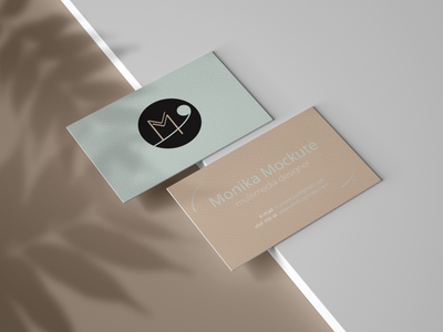 Personal Logo and a Business Card personal logo business card minimal logo flat design