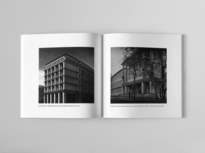 JERZY GOTTFRIED ARCHITEKT Catalog Page spread graphic  design page design page layout design brochure design