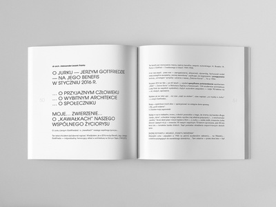 JERZY GOTTFRIED ARCHITEKT Catalog Page typography spread page design layout page design graphic  design brochure design