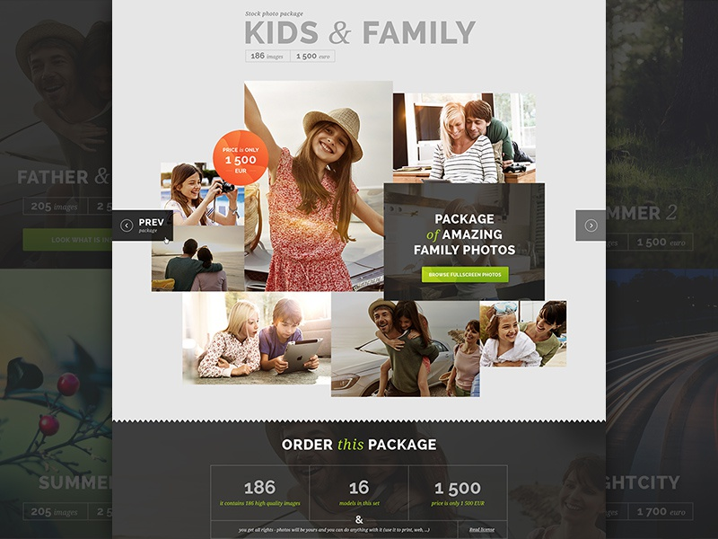 Imageprod - website web ui photo dashboard shop footer stats badge stock photos typography outlines clean