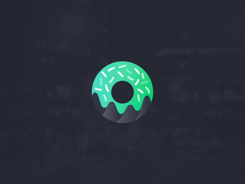 Symbol donut+graph logo mark symbol app tracking budget bakers donut graph finance