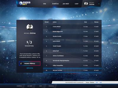 Dark UI - Statistics web dark blue glow ui game statistics stats scores ice hockey nhl championship