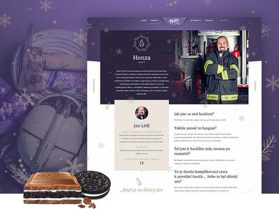 Milka & Oreo – Thank you for Christmas fireman stories magazine interview chocolate oreo milka christmas photography layout texture web