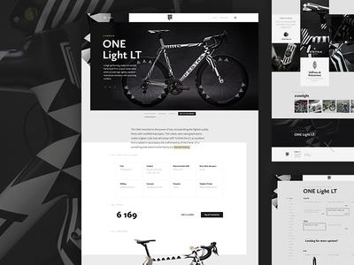 Festka cycling shop product photos carbon ui design pattern festka bikes website minimal