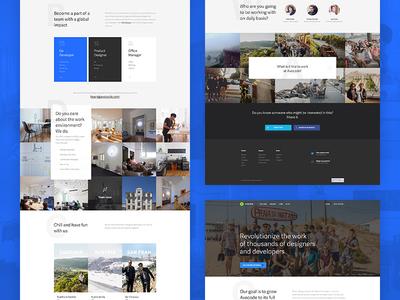 Avocode – jobs page developer designer white photos typography ui light minimal landing page web jobs avocode