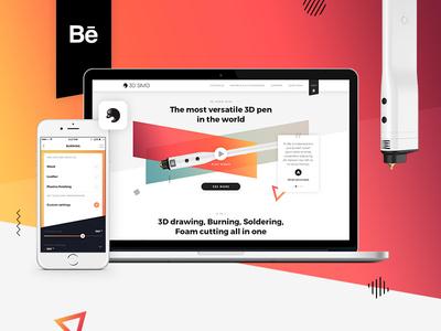 3Dsimo (Behance case study) light ios product minimal colours ux ui app web branding 3dsimo 3d pen