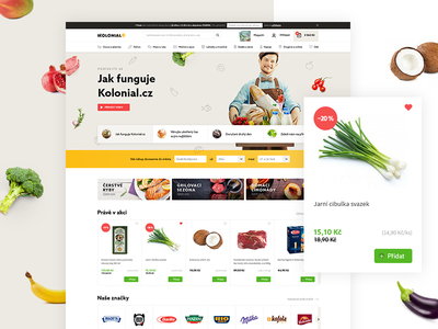 Kolonial tender service delivery white grocery food concept shop online shopping ui web kolonial