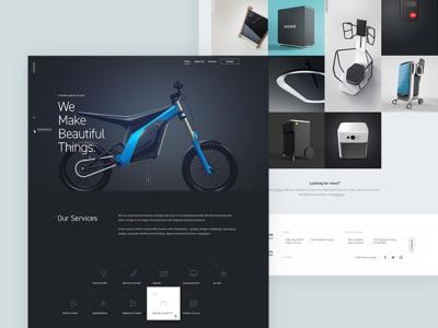 Stedina website (casestudy) typography grid case study ui ux industrial design product design design studio portfolio web
