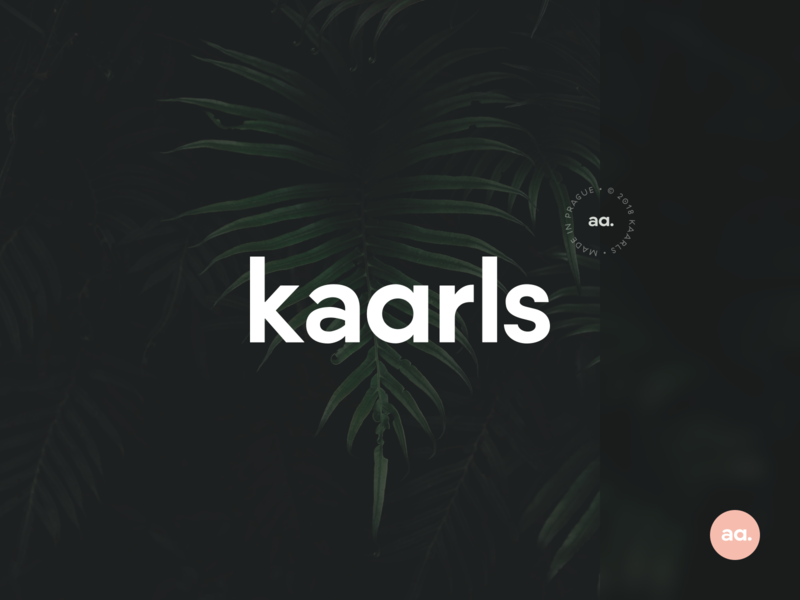 Kaarls brand identity branding furniture logomark dark interior design interior brand kaarls typography minimal