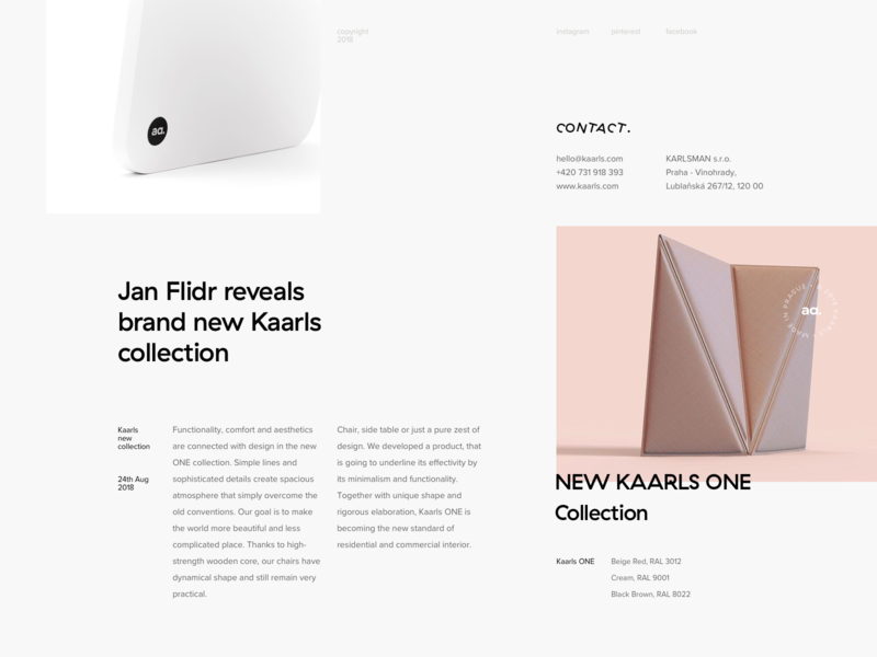 Kaarls brand typography exploration grid layout design minimal typography web