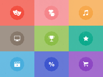 Categories icons