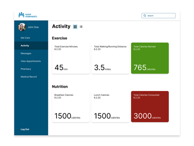 047 ux activity feed activity daily ui app medical app simple typography minimal ui