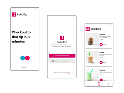 Bobalize 01 simple ui figma product product design app design app design ux fun typography minimal color