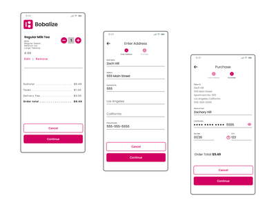 Bobalize-Checkout design ui fun app design app simple minimal product design ui design uxdesign uxui ux
