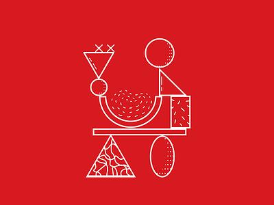 Doodle 005  red dailydoodle texture shape vector color doodle