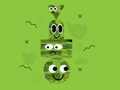 Doodle 010  smile green dailydoodle texture shape vector color doodle
