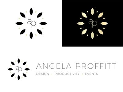 Angela Proffitt Logo luxury business black gold visualidentity branding logo