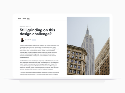 Daily UI 035 clean dailyui daily 100 challenge blog simple design ux fun typography minimal ui