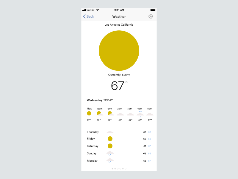 037 simple design daily ui daily 100 challenge weather app simple fun design ux ui typography minimal