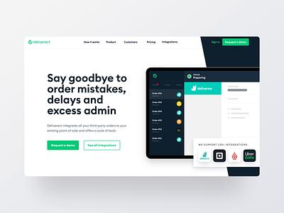 Deliverect - Homepage saas website animated webdesign marketing