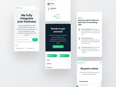 Deliverect - Mobile website minimal