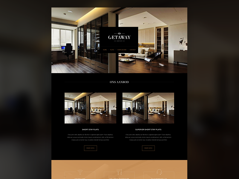 Website Getaway black copper minimal