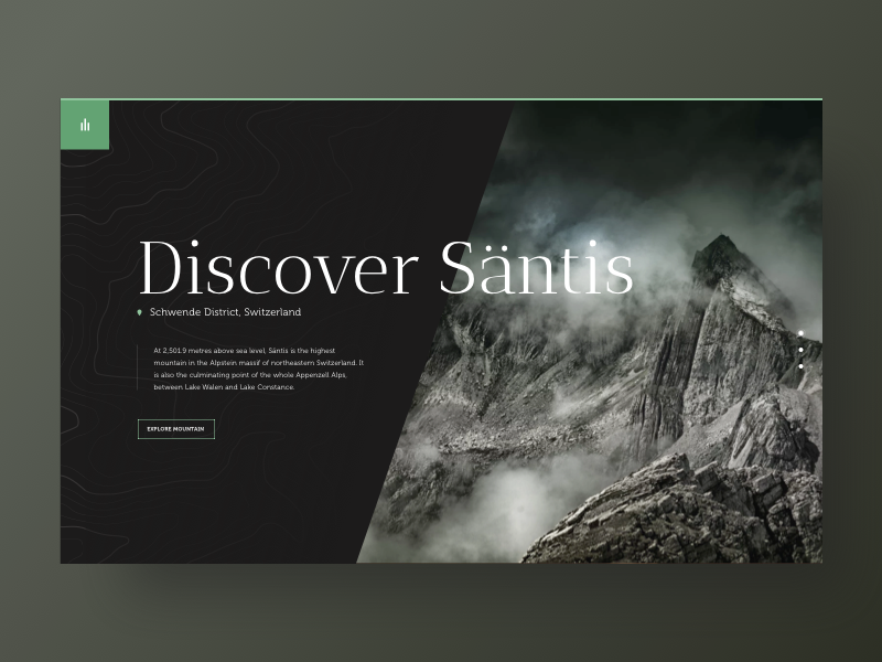 Discover Santis - Travel website dark typography inspiration travel website minimal design ui ux