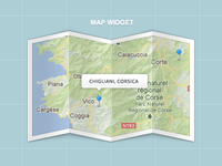 Map Widget ( .psd included )