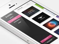 Dribbble Redesign - iPhone version