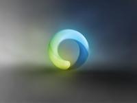 Glowing speech bubble