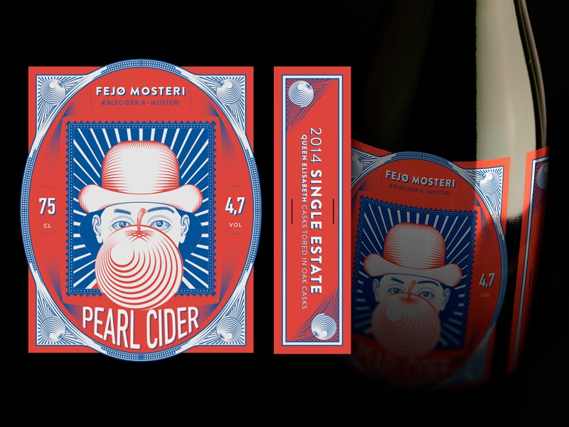 Fejø cider estate single vintage premium label packaging cider