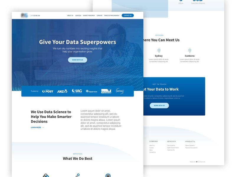 Data Analytics Consulting Website Concept custom web design wordpress design ui design ux design analytics consulting consulting website web design concept website design website web development web design