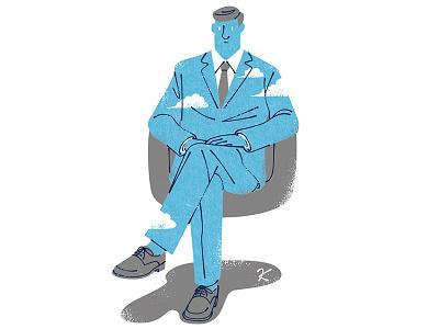 Sky gentleman graphic illustrator illustration