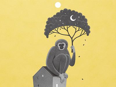 Monkey yellow monkey mono graphic illustrator illustration
