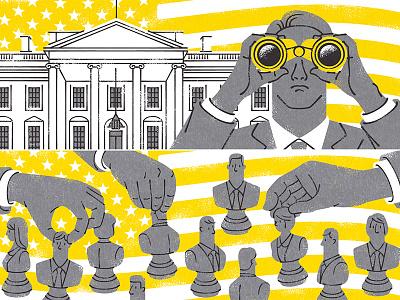 The presidential election monocle illustrator magazine editorial illustration