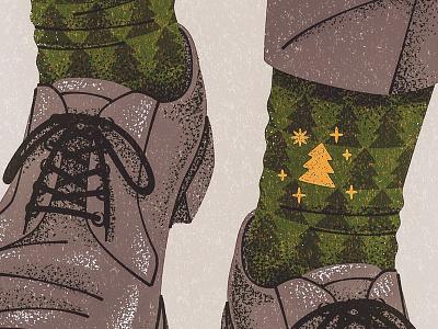 Happy Socks editorial drawing illustration