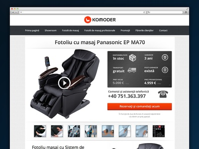 Komoder.ro - Massage Chair Product Page komoder.ro massage chair product layout panasonic humantouch komoder