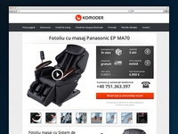 Komoder.ro - Massage Chair Product Page