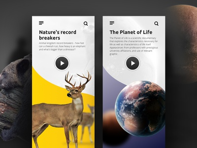 Watch Documentary App user interface mobile design ui watch online documentary